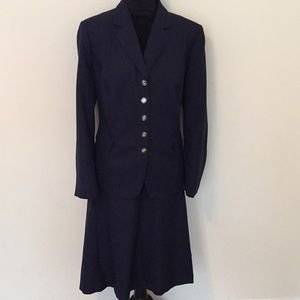 Other - Navy 2 Piece Dress Suit Size 16W